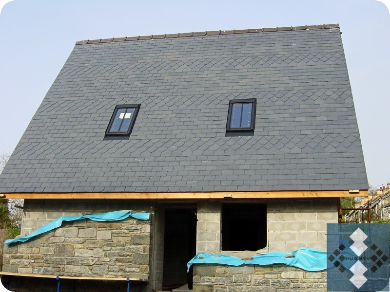 Fish Scale Slate Roof Project